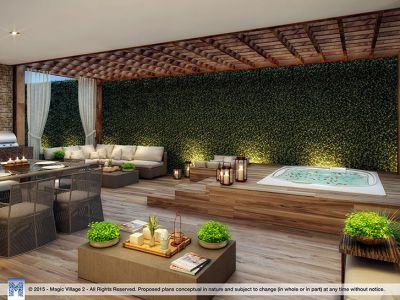 tribeca terrace with summer kitchen and outdoor spa upgrade - view 3